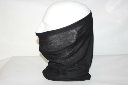 Fabric Face Mask Covering Neck Gaiter Sun Protection UPF 30 Color Black