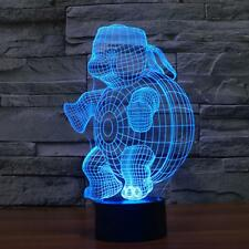 Turtle Design Colorful 3D Lamp USB LED Lights Vision Touch Control Bed Light