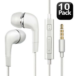 Premium-Headsets-Earphones-Earbuds-with-Built-In-Mic-Lot-For-Samsung