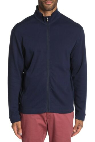 Tommy Bahama  Men's Sweater   Zip front blue  long sleeve XL cotton 404