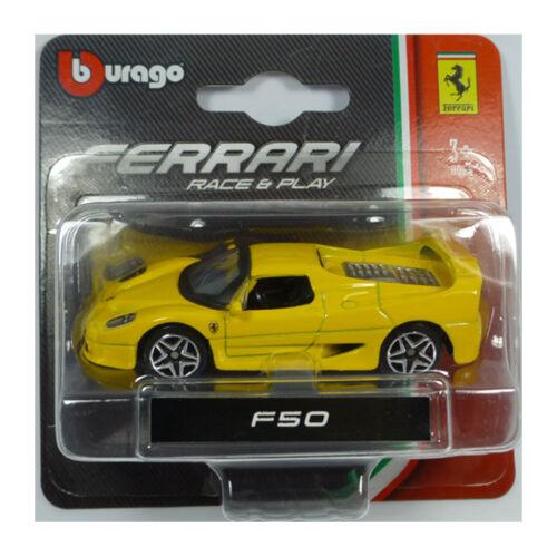 ° Bburago 56000 Ferrari F50 gelb Maßstab 1:64 NEU