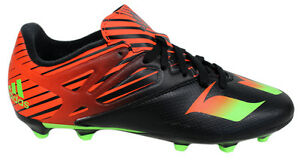 buy online 9986b 34f23 Image is loading Adidas-Messi-15-3-Junior-Lace-Up-Black-