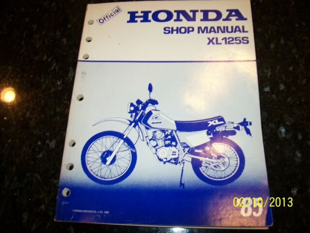 Oem Factory 85 Honda Xl125s Service Shop Repair Manual