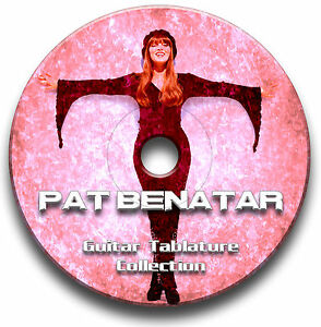 PAT-BENATAR-ROCK-GUITAR-TAB-TABLATURE-SONG-BOOK-TUITION-SOFTWARE-CD