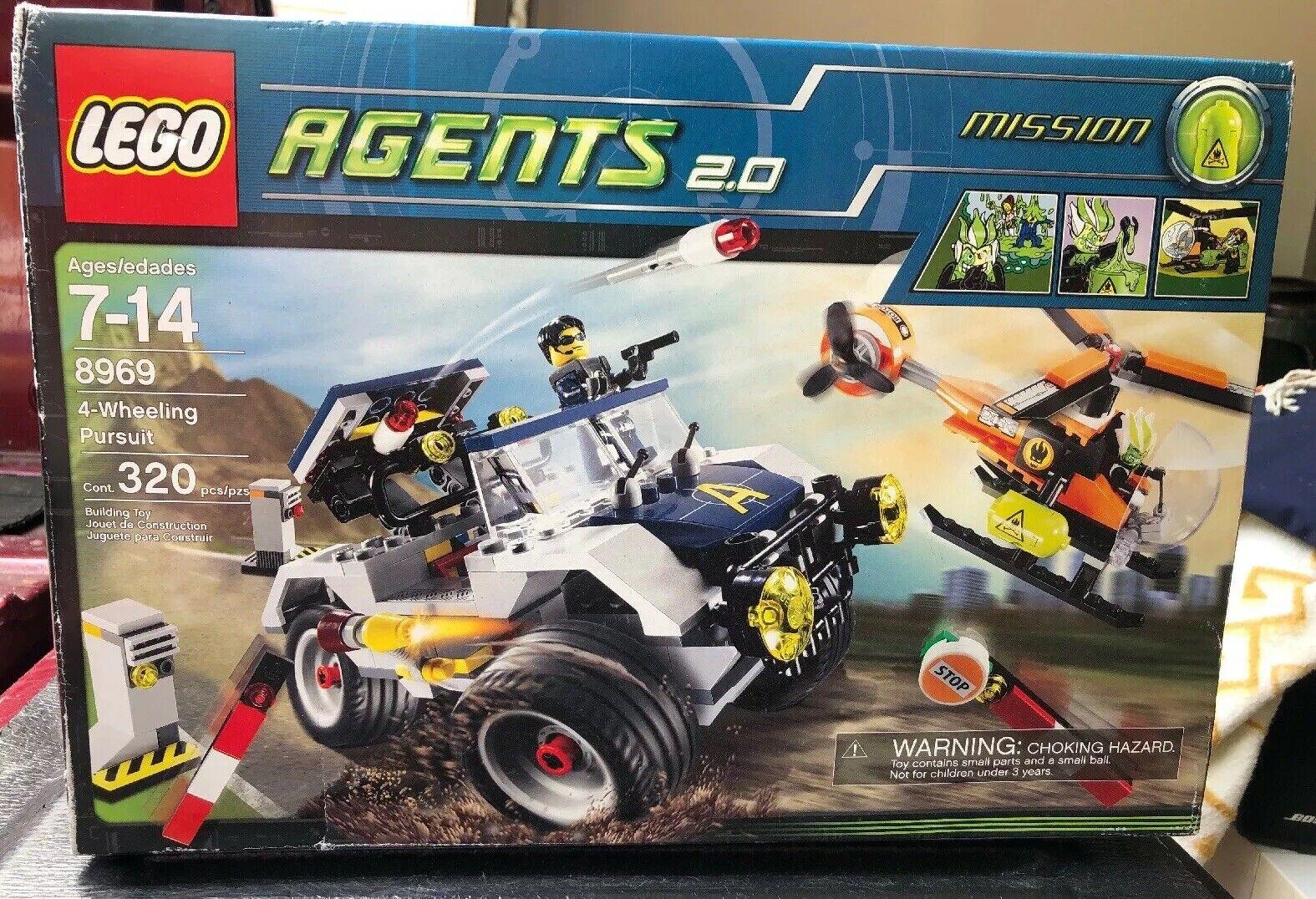 Los agentes de Lego 2.0 4-Wheeling Pursuit (8969) Nueva En Caja Sellada