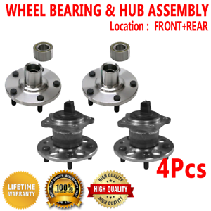 4X Front Rear Wheel Hub and Bearing Assembly for TOYOTA SIENNA 1998-2003