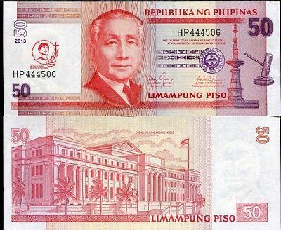 PHILIPPINES 50 PISO 2013 COMMEMORATIVE 440 YEARS SAN PEDRO UNC P-217