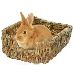 Pet-Woven-Natural-Straw-Grass-Mat-Edible-Rabbit-Small-Animal-Bedding-Nest-Litter