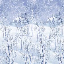 Amscan Winter Wonderland Scene Setters Plastic Room Rolls White 48 ...