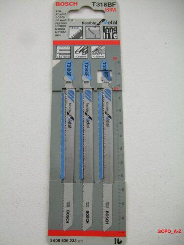 Stichsägeblätter BIM T-Schaft  T 318 BF Bosch Metall 3 Stück