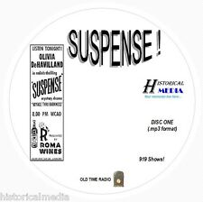 SUSPENSE! - 919 Shows Old Time Radio In MP3 Format OTR On 11 CDs