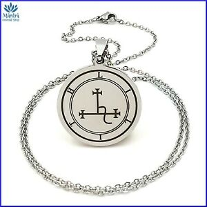 Collana uomo donna con ciondolo amuleto talismano Lilith in acciaio inox da per