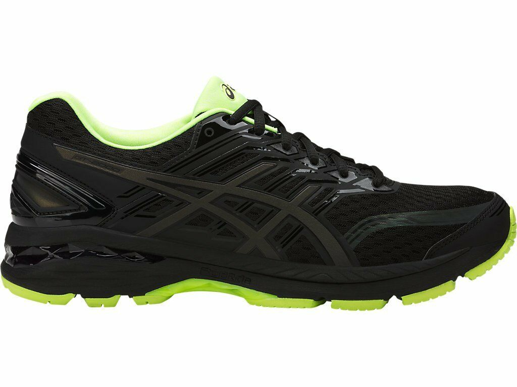 Asics GT-2000 5 Lite-Show Black Yellow Reflective Men Running Shoe T7E1N-9007