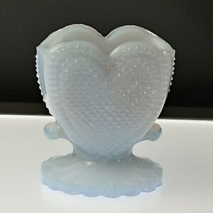 PALE-ORCHID-41-HEART-Toothpick-Holder-Match-Boyd-039-s-Crystal-Art-Glass-10-12-94