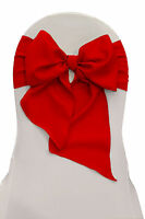 La Linen Pack Of 10 Polyester Poplin Chair Bows 8 By 108-inch. Made In Usa