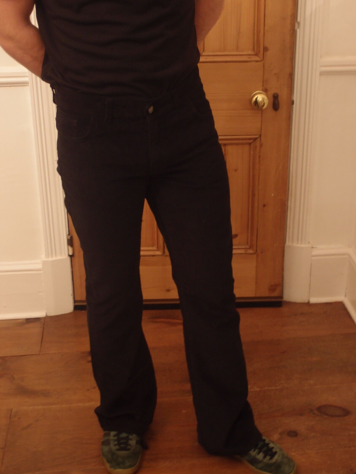 New Run & Fly retro vintage60's  70's style bootcut flared indigo jeans