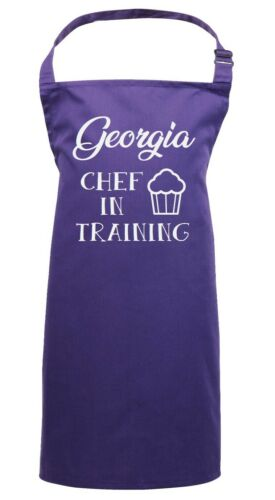 Personalised Kids Apron Chef In Training Customised Name Childrens School Gift