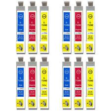 12 C/m/y Cartuchos De Tinta Para Epson Stylus D120 DX6000 dx9400 S20 sx215 SX600FW