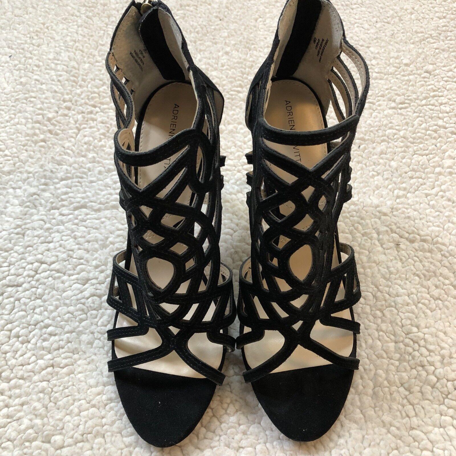 NEW ADRIENNE VITTADINI VITTADINI VITTADINI 9.5 Womens Avl-Anjolie-1 Platform Dress Sandal Black  149 323c06