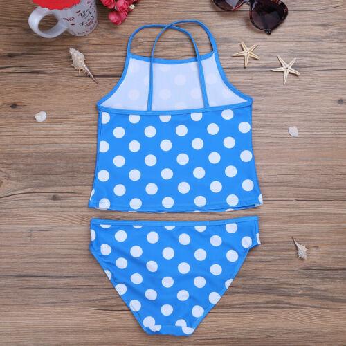Girls Summer Bikini Tankini Swimsuit Swimwear Kids Swimming Costume Bathing Suit