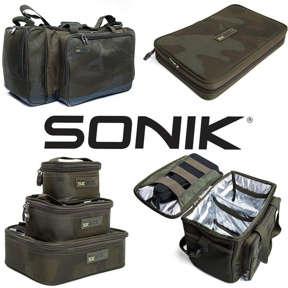Sonik SK-TEK Carryall CoolBag Accessory Pouch Rig Bit Wallet Air Dry Bags & More