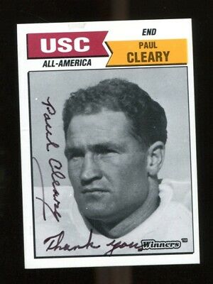 Paul Cleary Signed 1988 Winners Usc Trojans All American