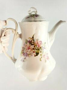 CARL TIELSCH Chantilly ANTIK Jugendstil Kaffeekanne Porzellan 19/20 Jahrhundert