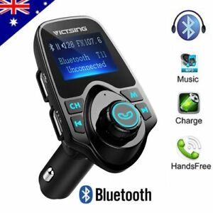 Bluetooth-FM-Transmitter-Car-Kit-MP3-Player-SD-USB-Charger-For-iPhone-7-8-X-LD