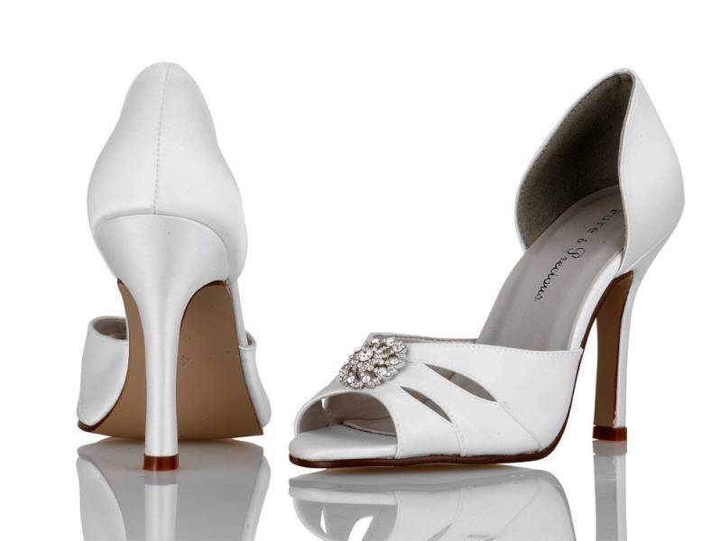 Ivory Satin Bridesmaid Wedding Shoes 3,4, 5,6, 7,8 by Pure & Precious