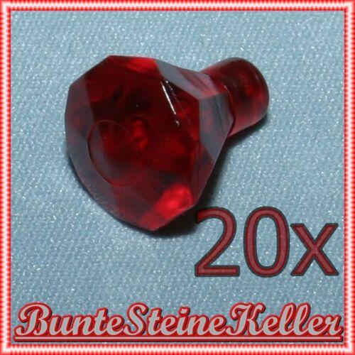 20 Stück transparent rote DIAMANTEN KRISTALLE in rot /& NEU ! SK157