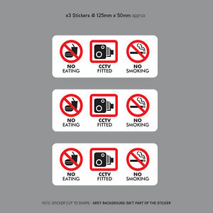 3-x-No-Eating-Drinking-CCTV-Fitted-Taxi-Stickers-Minicab-Cab-Notice-SKU3143