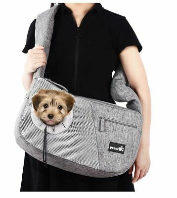 Small Pet Dog Cat Carrier Shoulder Sling Bag Tote Outdoor Travel Reversible Bag