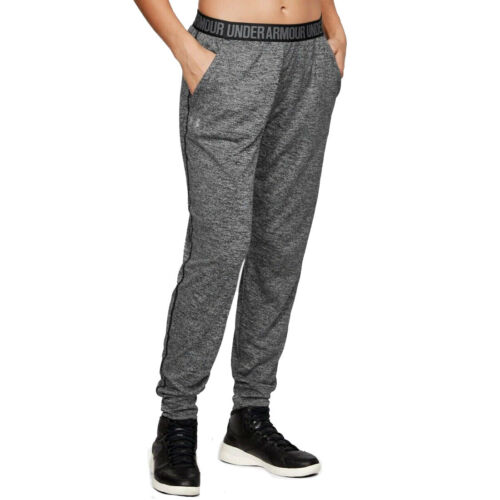 Under Armour UA Ladies Graphic Grey Play Up Twist Womens Sports Gym Pants
