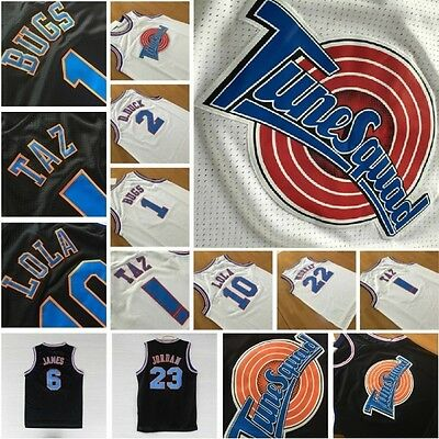 Space Jam Jersey Basketball Looney Tune Squad Jordan Bugs Taz Retro Vintage 90s