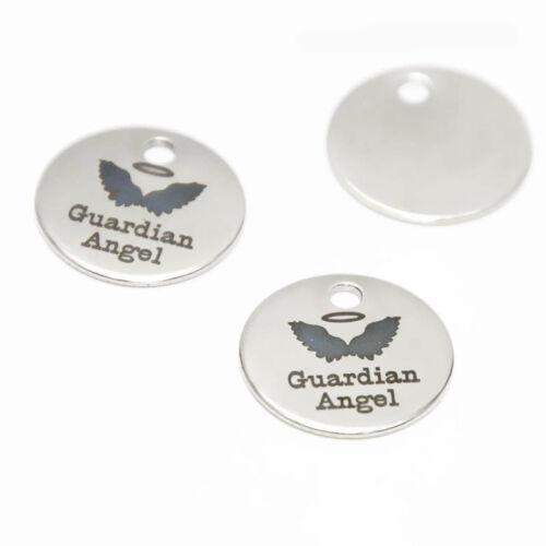 10pcs//lot Guardian Angel charm Polished Inspirational message Charm pendant 20mm