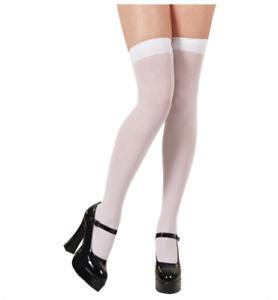 Neuf blanc cuisse haut bas robe fantaisie accessoires