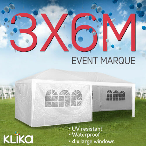 1 of 1 - New 3x3 GAZEBO PARTY TENT EVENT MARQUEE AWNING OUTDOOR PAVILION CANOPY 3x6 3x9m
