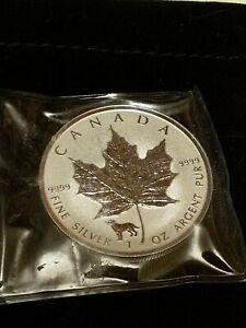 2018-Royal-Canadian-Mint-1-oz-Silver-Maple-Leaf-with-Lunar-Dog-Privy