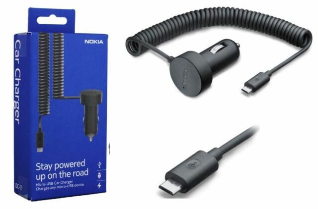 Genuine Nokia DC-17 1000mAh Micro USB Car Charger for Nokia Asha & Lumia Phones