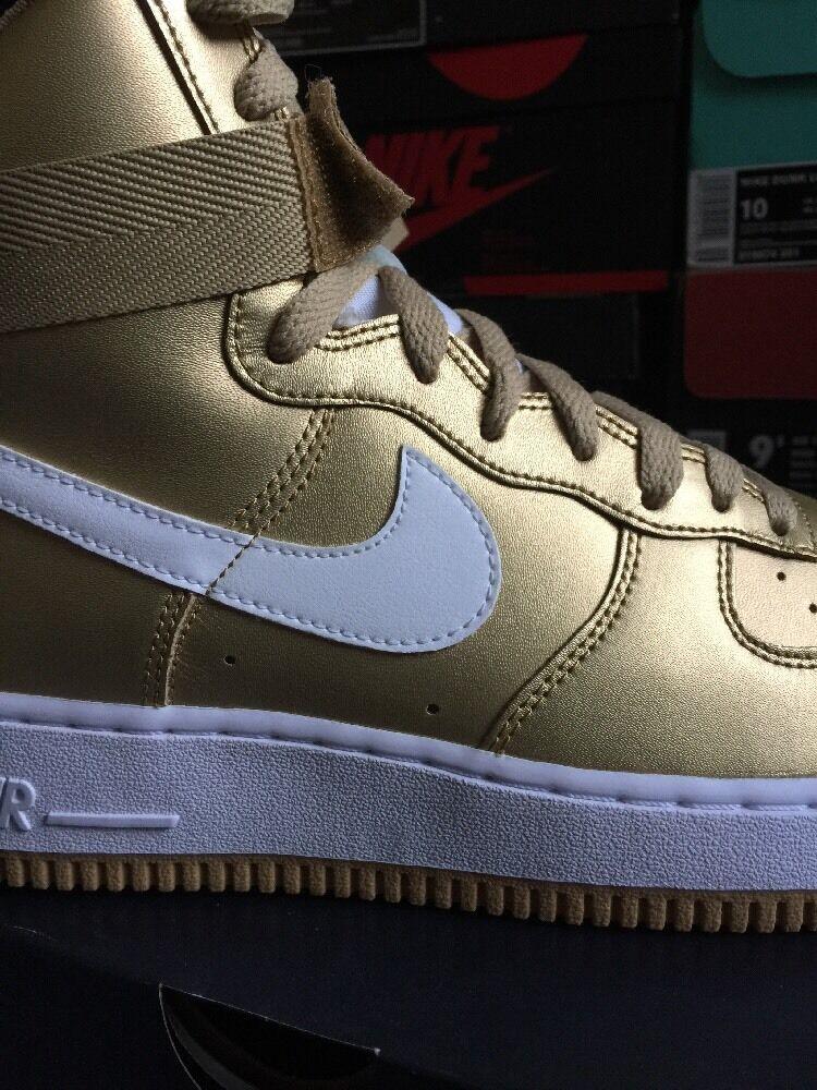1993 Retro Nike Air Force 1 High QS Gold 9 White Black Lab Sf Af1