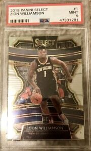 2019-20-Panini-Select-Zion-Williamson-Concourse-1-Rookie-PSA-9-RC