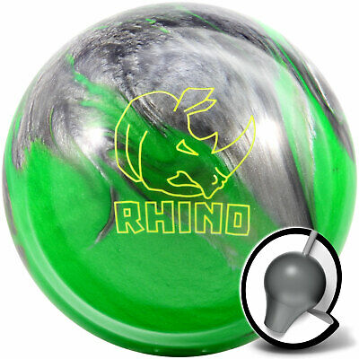 Bowling Ball brunswick Rhino Green Silver Pearl 10-16 Lbs Strike Ball Reactive