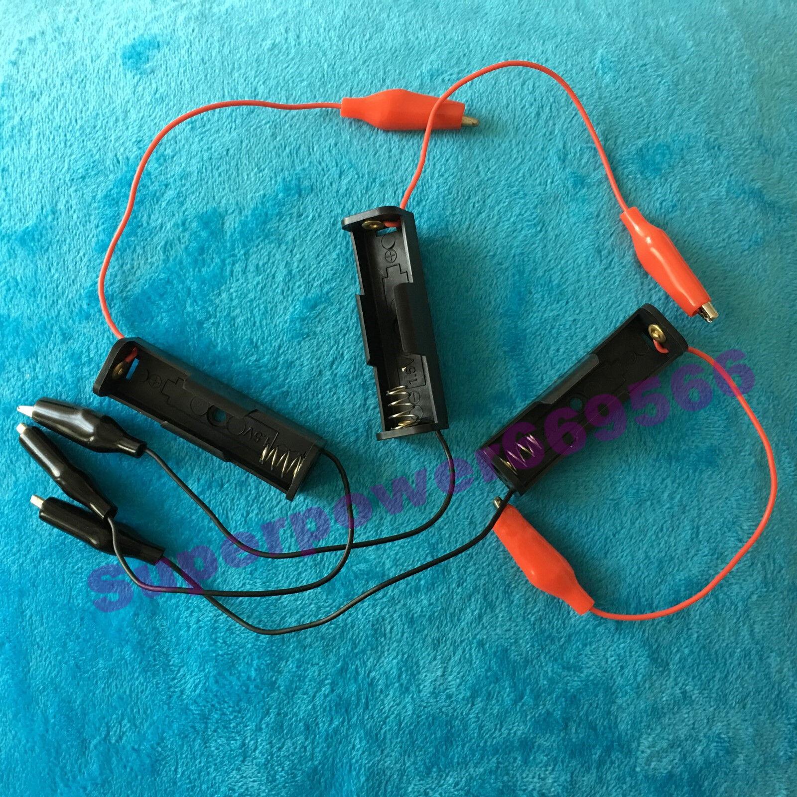 alligator convertor holder for 1X 1.5V AA R6 LR6 14500 3.6V 3.2V battery kit