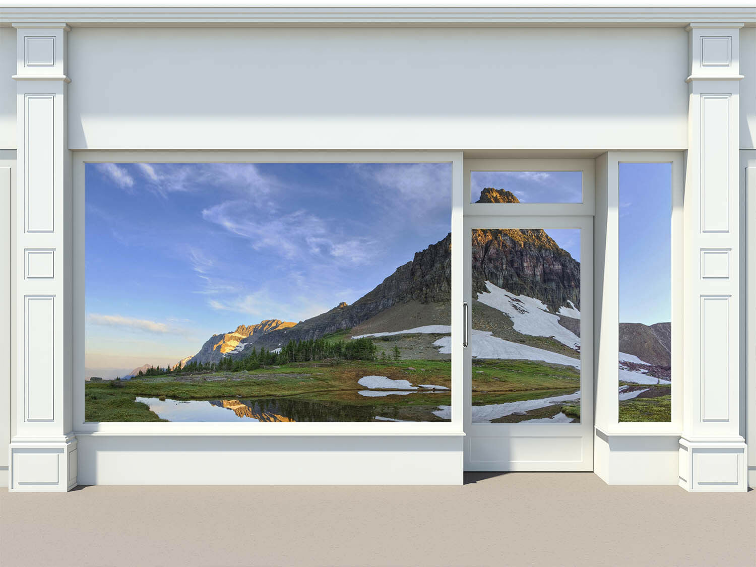 3D Sky Mountain Lake 4 Wall Paper Wall Print Decal Wall Deco Indoor Mural Summer