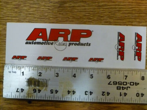 ARP American Racing Products Sheet of 7 Sticker Decal