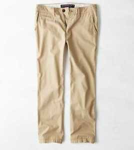 Details about AMERICAN EAGLE OUTFITTERS MEN S 29 32 ORIGINAL STRAIGHT LIGHT KHAKI  PANTS 5d007cefe66e