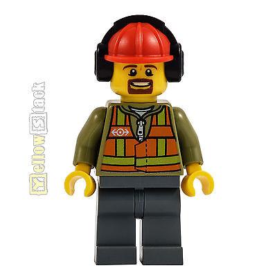 Helm NEU trn238 LEGO® Eisenbahn Figur Mechaniker Bahn-Arbeiter mit Gehörschutz