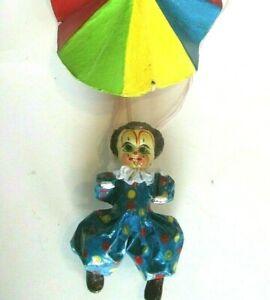 Vintage-Clown-Mobile-Paper-Mache-Mexico-Rainbow-Parachute-Creepy