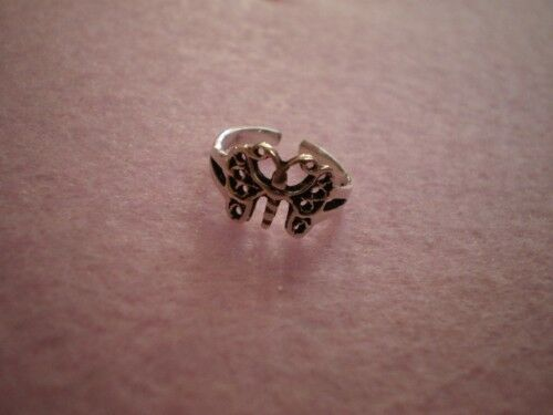 925 Sterling Silver Toe Ring - Butterfly