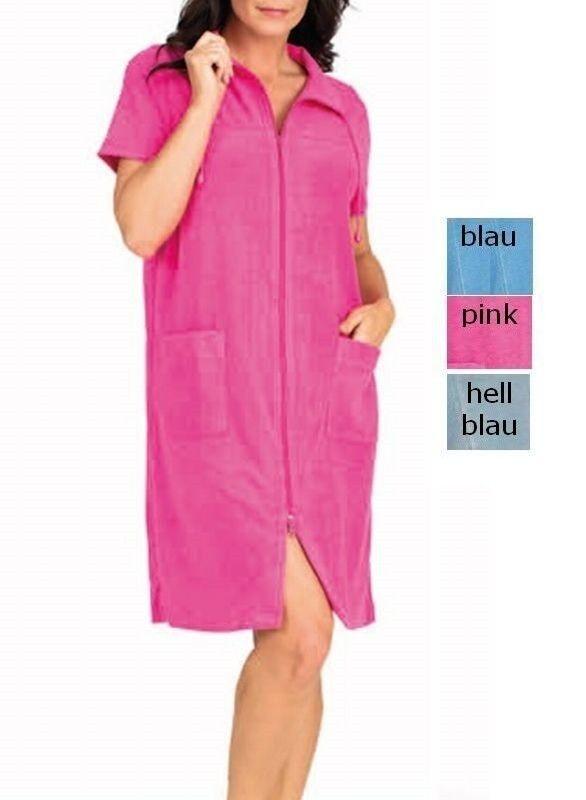 Kleid Strandkleid Frotteekleid Mantelkleid Hauskleid  Rosa blau +vhellblau